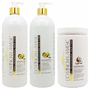 Dominican Magic Nourishing Shampoo & Conditioner & Deep Fortifying Conditioner Liter