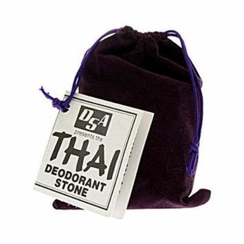 New - Thai Deodorant Stone Stone in Velvet Pouch - 1 Pouch