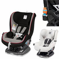 Peg Perego Primo Viaggio Infant Convertible Car Seat w Clima Cover, White & Cup Holder (Sport)