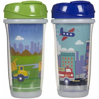 Playtex Insulator/Playtime Cup, 9 Ounce, Transportation Theme, 2 Pack