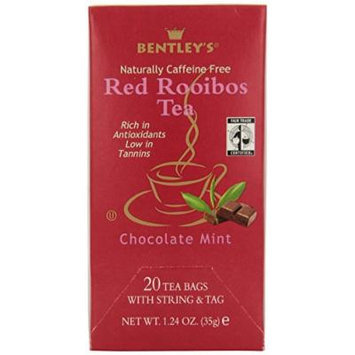 Bentley's Finest Tea Royal Chocolate Mint Rooibos Fair Trade Certified Box, 20-count