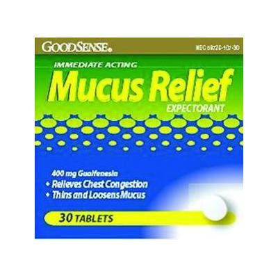 Guaifenesin Tablets - 400 mg - Compare to Mucinex - 60 ct.