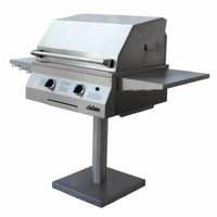 Solaire 27-Inch Deluxe Infrared Propane Bolt-Down Post Grill, Stainless Steel