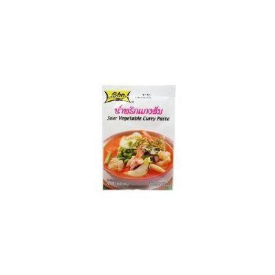 Lobo Sour Vegetable Curry Paste Thai Herbal Food 50 G (1.76 Oz) X 4 Bags