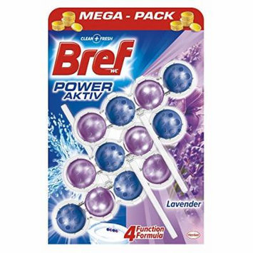 Bref by Henkel - Automatic Toilet Cleaning Power Balls - 4 Functions - Lavender - 6 Count (2 x 3)