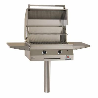 Solaire 27-Inch Deluxe Infrared Propane In-Ground Post Grill, Stainless Steel