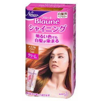 Kao Blaune Shining Hair Color Cream 1 Maple Brown for Gray Hair (Japan Import)