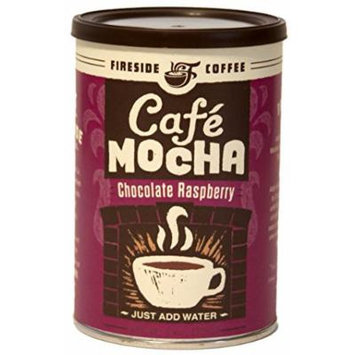 Fireside Coffee Cafe Mocha Instant Flavored Coffee 8 Ounce Canister - Chocolate Raspberry