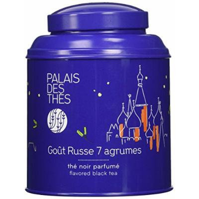 Palais des Thés 7 Citrus Russian Blend Black Tea (3.5 Oz Loose Tea in a Canister)