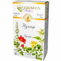 Celebration Herbals Organic Hyssop Tea Caffeine Free -- 24 Herbal Tea Bags
