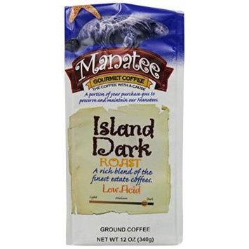 Manatee Island Dark Roast Ground, 12-Ounce (Pack of 3)