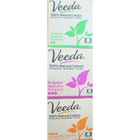 Veeda - Natural Cotton Tampons - With Applicator - Bundle of 3 Sizes