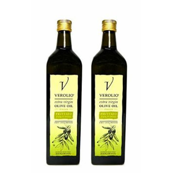 Verolio Italian Fruttato Extra Virgin Olive Oil, First Cold Pressed - Kosher- 2 Pack - 33.8 Oz