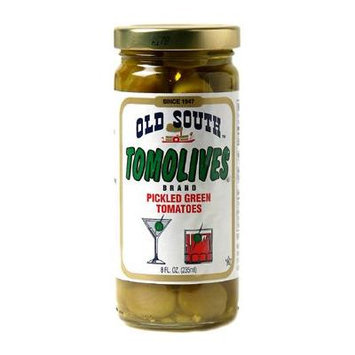 Old South Pickled Green Tomatoes 8 Oz Jar (12 Pack)