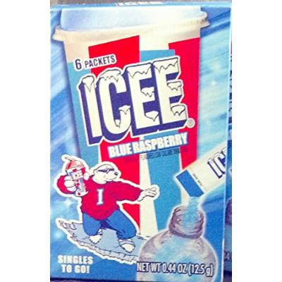 Icee Blue Raspberry Singles to Go - 1 Box (6 Count)