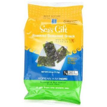 Sea's Gift Korean Seaweed Snack, Kim Nori, Roasted and Sea Salt, 0.4-Ounce (Pack of 12)