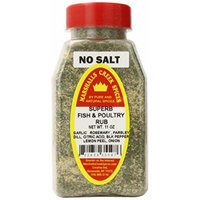 Marshalls Creek Spices Superb Fish and Poultry Rub, No Salt 11 Ounce (Pack of 12)
