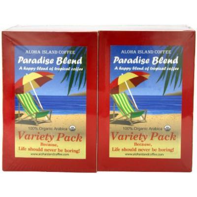 Aloha Island Coffee Company Variety Pack, 36-Count Organic Coffee Pods