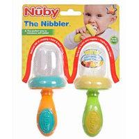 Nuby 2 Pack Nibbler with Cap, Green/Orange