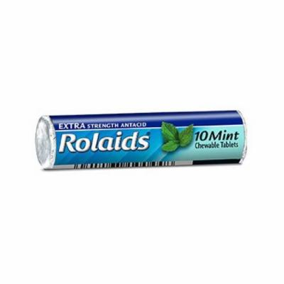 Rolaids Extra Strength Antacid Chewable Tablets, Mint - 12 X 10 Rolls