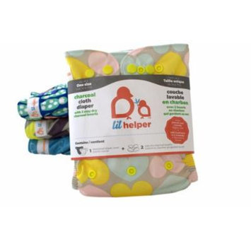 Charcoal Cloth Diapers - Prints (Hearts)