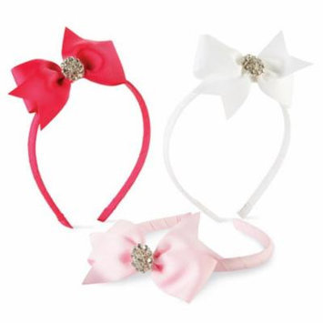 Mud Pie Baby LIGHT PINK JEWELED BOW HARD HEADBANDS 355010 Headshots Collection