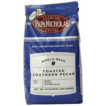 PapaNicholas Coffee Whole Bean Coffee, Toasted Southern Pecan, 10 Ounce