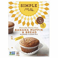 Simple Mills Banana Muffin Mix (Pack of 3), 9.0 Ounce Boxes
