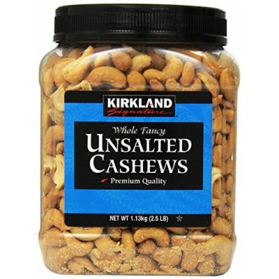 Kirkland Signature Kirkland Signature Unsalted Cashews, 2.5 Pound (Pack of 2)