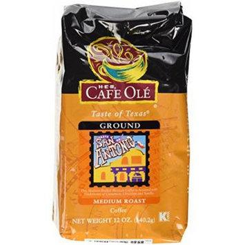 HEB Cafe Ole Taste of Texas Whole Bean Coffee 12oz Bag (Pack of 3) (Taste of San Antonio Medium Roast - Medium Bodied Mexican Coffee Accented with Undertones of Cinnamon)