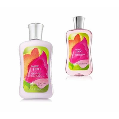 Bath and Body Works Signature Classics Pleasures Collection Body Lotion and Shower Gel Gift Set Men or Women (Sweet Pea)