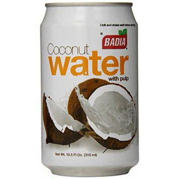 Badia Coconut Water with Pulp, 10.5 Ounce (Pack of 24)