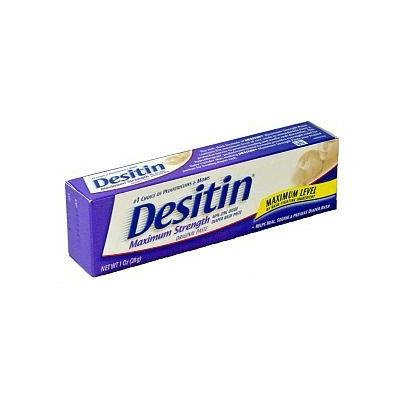 Desitin Maximum Strength Diaper Rash Paste, 1 Ounce (box of 6)