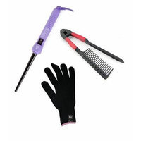 HerStyler Purple Baby Curls 9-18 mm with FREE HerStyler Easy Comb