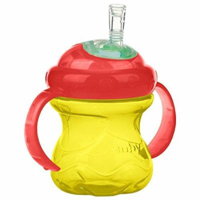 Nuby No-Spill Super Sports Straw Grip N' Sip Cup, 8 Ounce, Yellow/Red