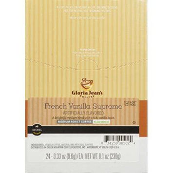 Gloria Jean's French Vanilla Supreme, K-Cup for Keurig Brewers, 24-Count (Pack of 2)