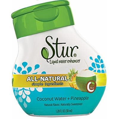 Stur - Coconut Water + Pineapple - Liquid Water Enhancement, 1.28 Ounce Bottle (Pack of 3)