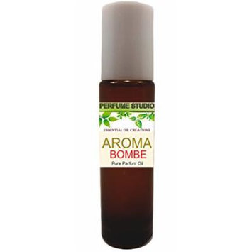 Perfume Studio Aroma Bombe Parfum - Concentrated Pure Perfume Oil in a 11ml Amber Glass Roller Bottle with a Metal Roller Ball Applicator.
