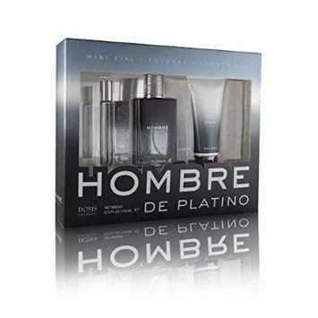 Hombre De Platino Cologne 3 Pc. Gift Set (6.72 total FL. OZ)