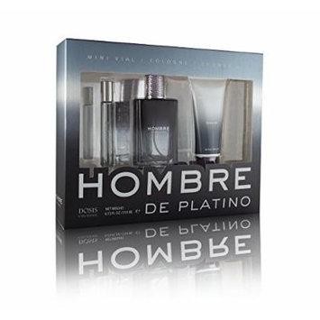 Hombre De Platino Cologne 3 Pc. Gift Set (6.72 total FL. OZ)