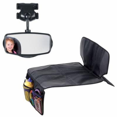 Munchkin Auto Seat Protector with Safe View Mirror