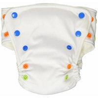 BabyKicks Basic Cloth Diaper Snap Closure, White