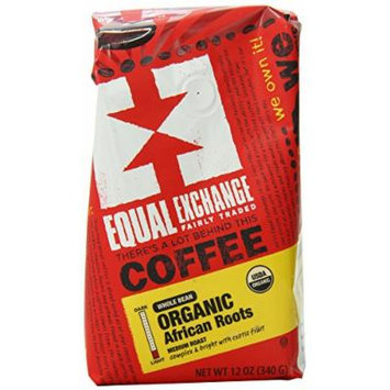 Equal Exchange Organic African Roots Blend Whole Bean Coffee, 12 Ounce (Pack of 6)