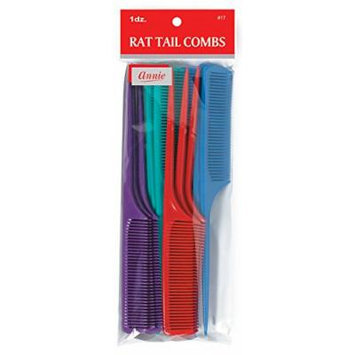 Annie Rat Tail Comb Set, 12 Count