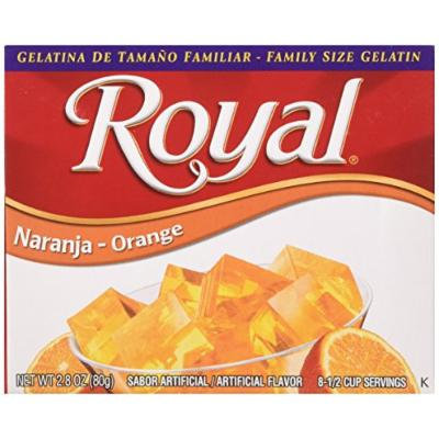 Royal Bilingual Gelatin, Orange, 2.8-Ounce (Pack of 12)