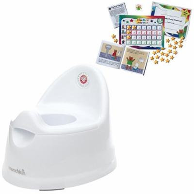Munchkin Arm & Hammer Natural Fit Potty with Potty Training Chart System (Pink)
