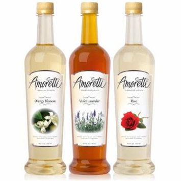 Amoretti Premium Floral Syrups 750ml 3 Pack