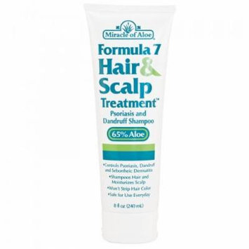 Miracle of Aloe Formula 7 Hair & Scalp Treatment. Leaves Hair Clean, Fresh and Shiny. Mosturizes Scalp While Controlling Itching and Flaking. Your Hair Will Have More Body and Luster Than Ever Before...and Your Scalp Will Be Itch and Flake-free! Dry,...