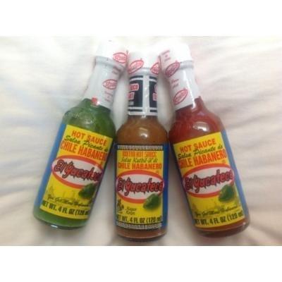 El Yucateco Ð Habanero Hot Sauces All three (3) Sampler, 4 FL.OZ. / 120 ml) each