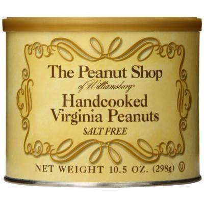 The Peanut Shop of Williamsburg Handcooked Virginia Peanuts, Salt Free, 10.5 Ounce